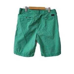"American Eagle ""Classic Length"" green shorts"